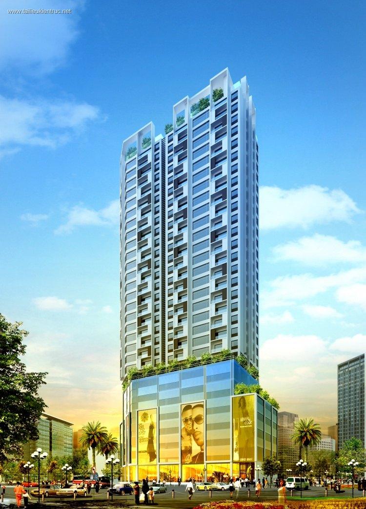 File shop phối cảnh Tòa nhà Trung tâm thương mại Trần Duy Hưng