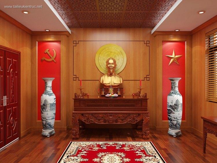 Hồ sơ thiết kế thi công nội thất Phòng thờ Mẫu 01