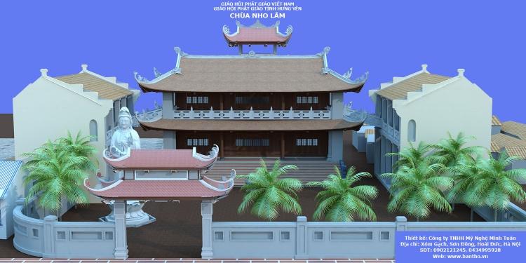 Phối cảnh 3d file Max Chùa Việt Nam 08