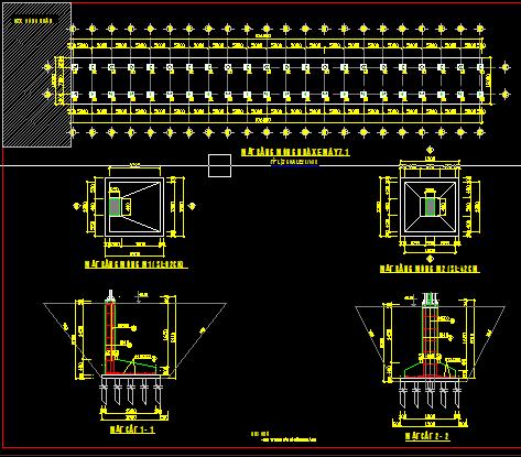 Hồ sơ thiết kế nhà để xe Trường học kích thước 12x106m