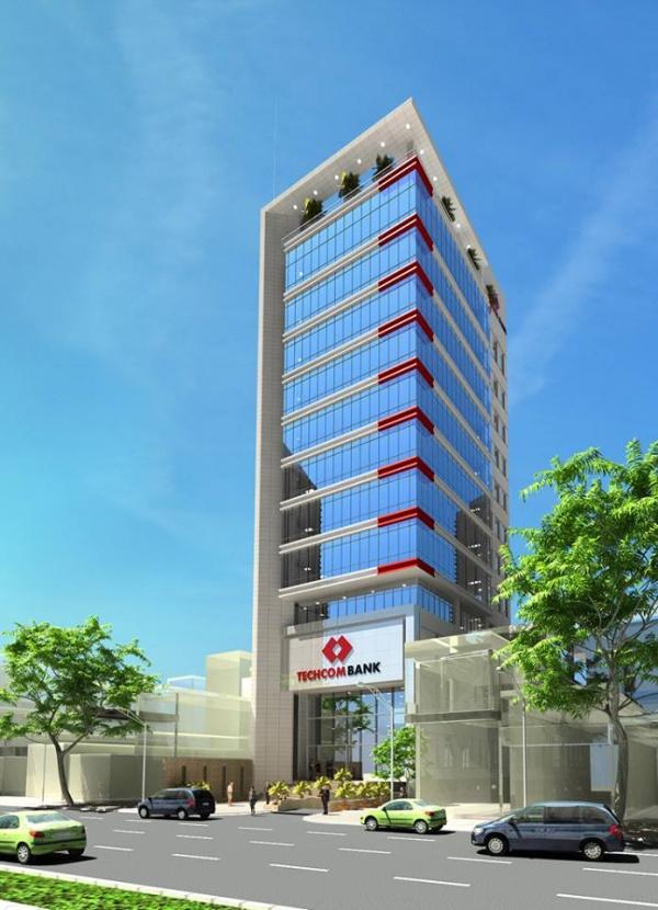 Hồ sơ thiết kế kiến trúc Tòa nhà làm việc Ngân hàng Techcombank Cần thơ mẫu số 008