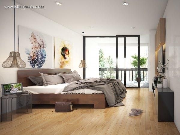 Sence Phòng Ngủ 00019 - Thiết kế phòng ngủ Master hiện đại và đẹp