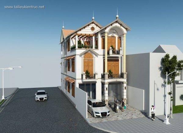 Hồ sơ thiết kế nhà phố 3 tầng diện tích 7x17m 067