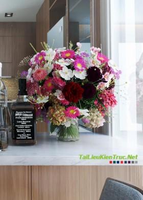3D model lọ hoa ngũ sắc 003