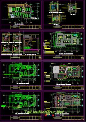 Hồ sơ thiết kế biệt thự 2 tầng diện tích 6,5x16,5m 003 Mái thái