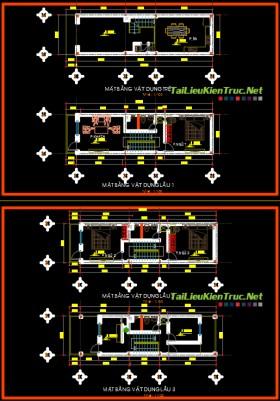 Hồ sơ thiết kế nhà phố 4 tầng diện tích 3,7x13m - 002