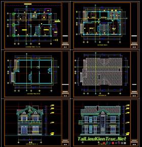 Hồ sơ thiết kế biệt thự 2 tầng diện tích 7x12m - 004