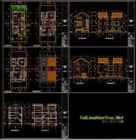 Hồ sơ thiết kế biệt thự 3 tầng diện tích 10x12m - 005