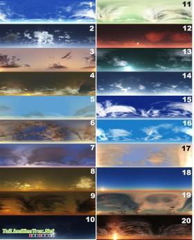 20 Maps HDRI bầu trời cực đẹp