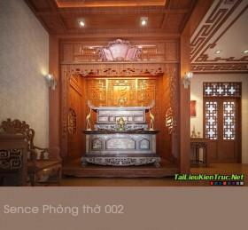 Sence Phòng thờ 002