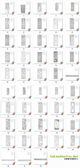 Mẫu hoa văn chi tiết cửa, vách ngăn, tranh cắt CNC Sketchup 001