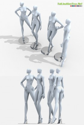 3D Model Mannequin - Ma nơ canh