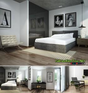 Sence Phòng Ngủ 00002 - Thiết kế phong cách hiện đại