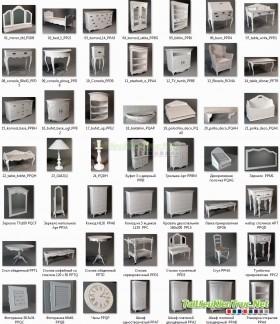 3D Model Bàn ghế - Bàn ghế tân cổ điển