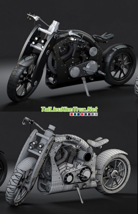Hướng dẫn dựng hình 3D một chiếc môtô cực chất