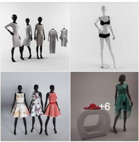 3D model cho shop thời trang, Mannequin
