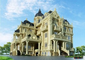 Sence Villa 00009 - Full 3dsmax Tân cổ điển