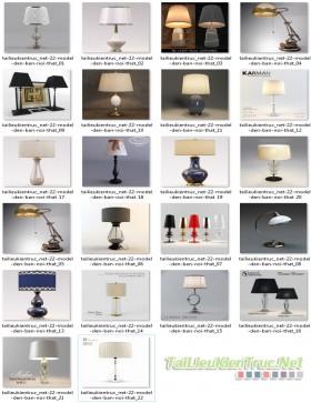 Tổng hợp 27 đèn tân cổ điển 3d model 006