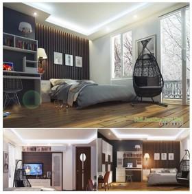 Sence Phòng Ngủ 00005 - Thiết kế phòng ngủ Master