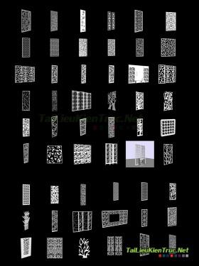 Tổng hợp 50 Model chi tiết Vách CNC 002