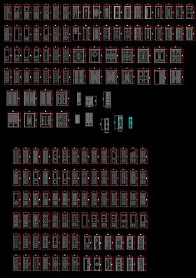 Tổng hợp thư viện các mẫu Cửa Gỗ Autocad