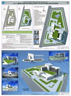 Đồ án kiến trúc - Bệnh viện Đa Khoa 500 giường quốc tế  Hải Phòng