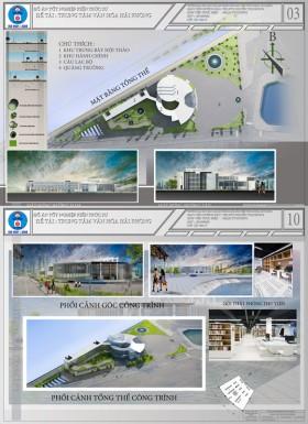 Đồ án tốt nghiệp kiến trúc - Trung tâm Văn hóa Hải Phòng