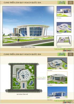 Đồ án tốt nghiệp kiến trúc - Cung triển lãm Quốc Gia Hà Nội