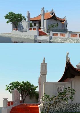 Sence Church 003- 3d model Nhà thờ Họ 2016