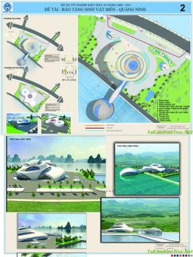 Đồ án tốt nghiệp kiến trúc - Bảo tàng các loại Sinh vật biển Quảng Ninh