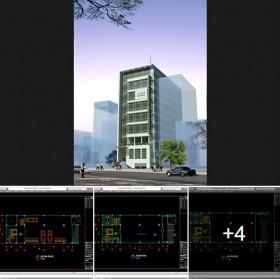 Hồ sơ thiết kế phương án Trụ sở làm việc Văn phòng 001