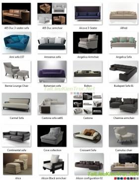 Tổng hợp 37 File 3D model Sofa các loại