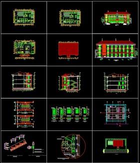 Hồ sơ thiết kế UBND xã mẫu 01