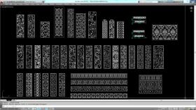 Mẫu hoa văn chi tiết cửa, vách ngăn, tranh cắt CNC 009