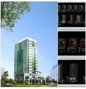 Bản vẽ thiết kế tòa nhà Văn Phòng 17 Tầng