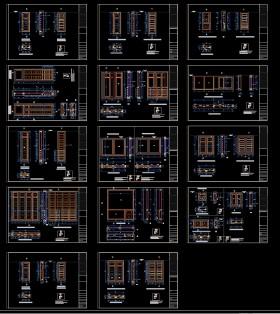 Tổng hợp thư viện các mẫu Cửa Gỗ Autocad 003