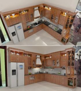 Model 3d Sketchup Tủ bếp 001 đẹp