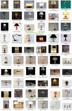 Tổng hợp 60 đèn Bàn tân cổ điển 3d model 007