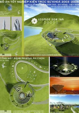 Đồ án tốt nghiệp kiến trúc - Khách sạn Cosmos Sơn Trà - Đà Nẵng