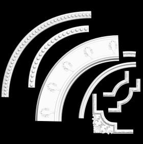 Thư viện 3DsMax về 8 chi tiết bo góc trần tân cổ điển