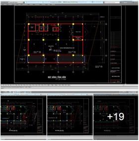 Bản vẽ hồ sơ thiết kế tòa nhà Văn Phòng 9 Tầng tp Hồ Chí Minh