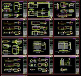 Hồ sơ chi tiết bổ đồ nội thất văn phòng M01