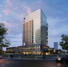 Sence Building 00002 - Phối cảnh công trình cao tầng cực đẹp full 3d và Shop