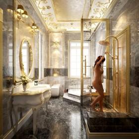 Sence Phòng tắm WC 01 - Thiết kế nội thất phòng tắm tân cổ điển