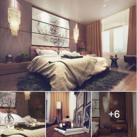 Sence Phòng Ngủ 00014 - Thiết kế phòng ngủ Master hiện đại 3dsmax