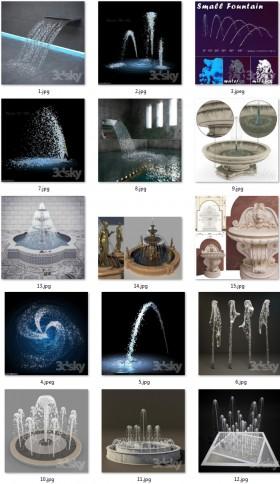 Tổng hợp 15 mẫu 3D Model Đài phun nước đẹp