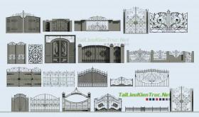 Tổng hợp 20 Model 3d Cổng biệt thự phong cách cổ điển