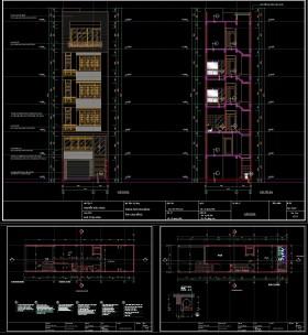 Hồ sơ thiết kế nhà phố 6 tầng diện tích 6x24m có thang máy 047