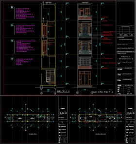 Hồ sơ thiết kế nhà phố 5 tầng diện tích 2,8x15m 048