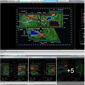 Chi tiết autocad Thiết kế sân vườn khu nghỉ dưỡng
